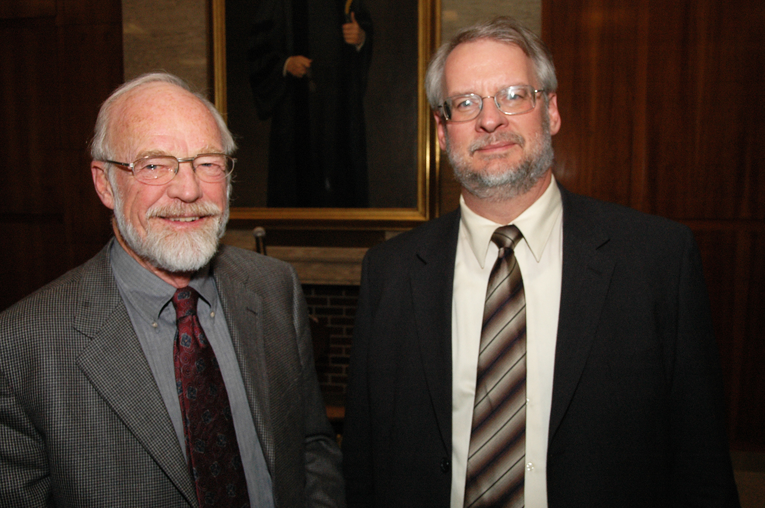 Rev. Dr. Peterson and Rev. Dr. Irvin at NYTS Alumni/ae Days in 2006